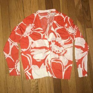 J Crew, floral cardigan
